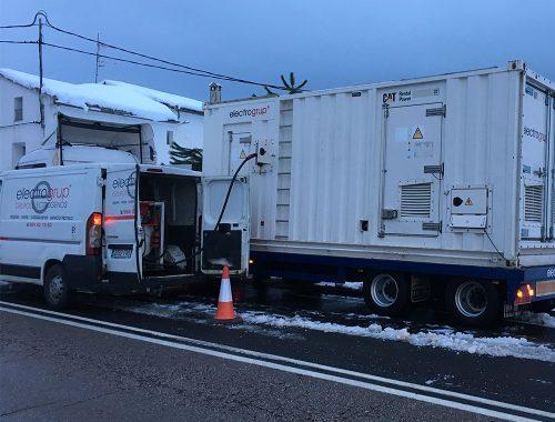 Electrogrup en el Temporal de Nieve de Castellón